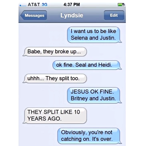 Hilarious Break Up Texts