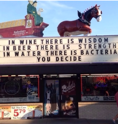 In wine there is wisdom