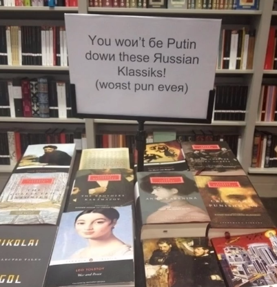 You won't be 'putin' down these Russian classics