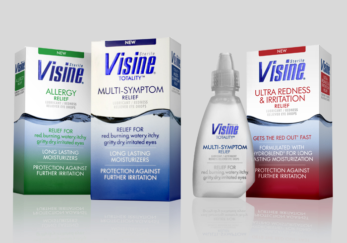 A few dabs of Visine will help reduce redness